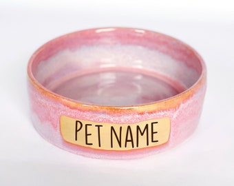 LARGE PERSONALIZED pet bowl, new puppy bowl, personalized dog food bowl, personalized water bowl, dog mom gift, made to order dog bowl