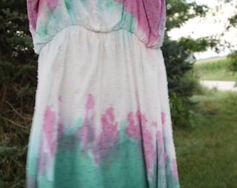 Mermaid Fairy dip dyed dress / top