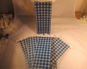10 Count Blue Plaid 1/2 lb. Kraft Bags