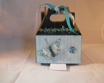 Blue Butterfly Gift Box