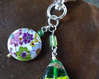Shiny FANCY Series Zipper Pull or Fan Pull BLACK Polka-dot Ball