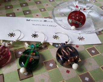 Candy Drops - QUAD Wine Charm Set