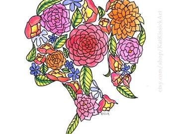 SMASH THE PATRIARCHY - Feminist - feminism - print - flower - beautiful
