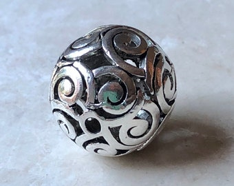 Antique Silver Filigree Bead
