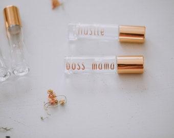 Gold or Rose Gold Label for Essential Oil Bottles, Set of 5