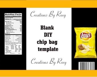 DIY chip bag template
