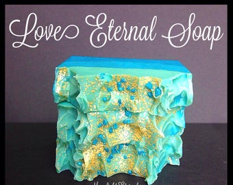 Handmade Soap - Fruity Floral Soap - Love Eternal Artisan Soap - Endless Love - Silk Soap - Made with Silk!