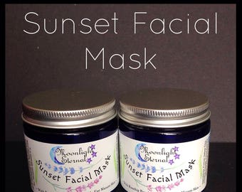 Clay Facial Mask - Yellow Clay - Face Mask - Facial Mask - Sunset Facial Mask Herbal Clay Mask - Mature Skin -All Natural Skin Care