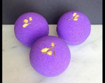 Lovely Lilac Bath Bomb - Lilac Bath Bomb - Spring Scent - Feminine, Floral - Sparkle Bomb - Artisan Bath Bomb