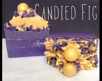 Candied Fig Soap - Handmade Soap - Artisan Soap - Bar Soap - Fruity Soap - Silk Soap - Made with Silk!