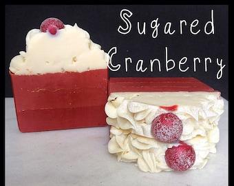 Sugared Cranberry Soap - Handmade Soap - Artisan Soap - Bar Soap - Fruity Soap - Silk Soap - Made with Silk!