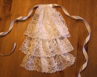 White Lace Jabot MADE BY ORDER