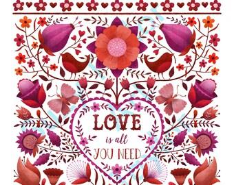 Love is all you need - printable wall art