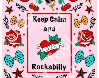Rockabilly printable wall art