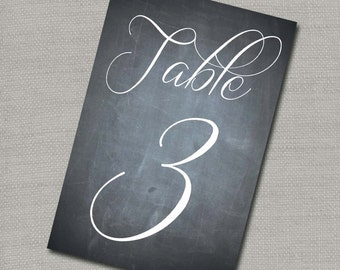 DIY Chalk Board Table Numbers 1-16