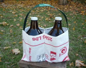 Eco Growler Carrier from Craftbrewers Recycled Art Project