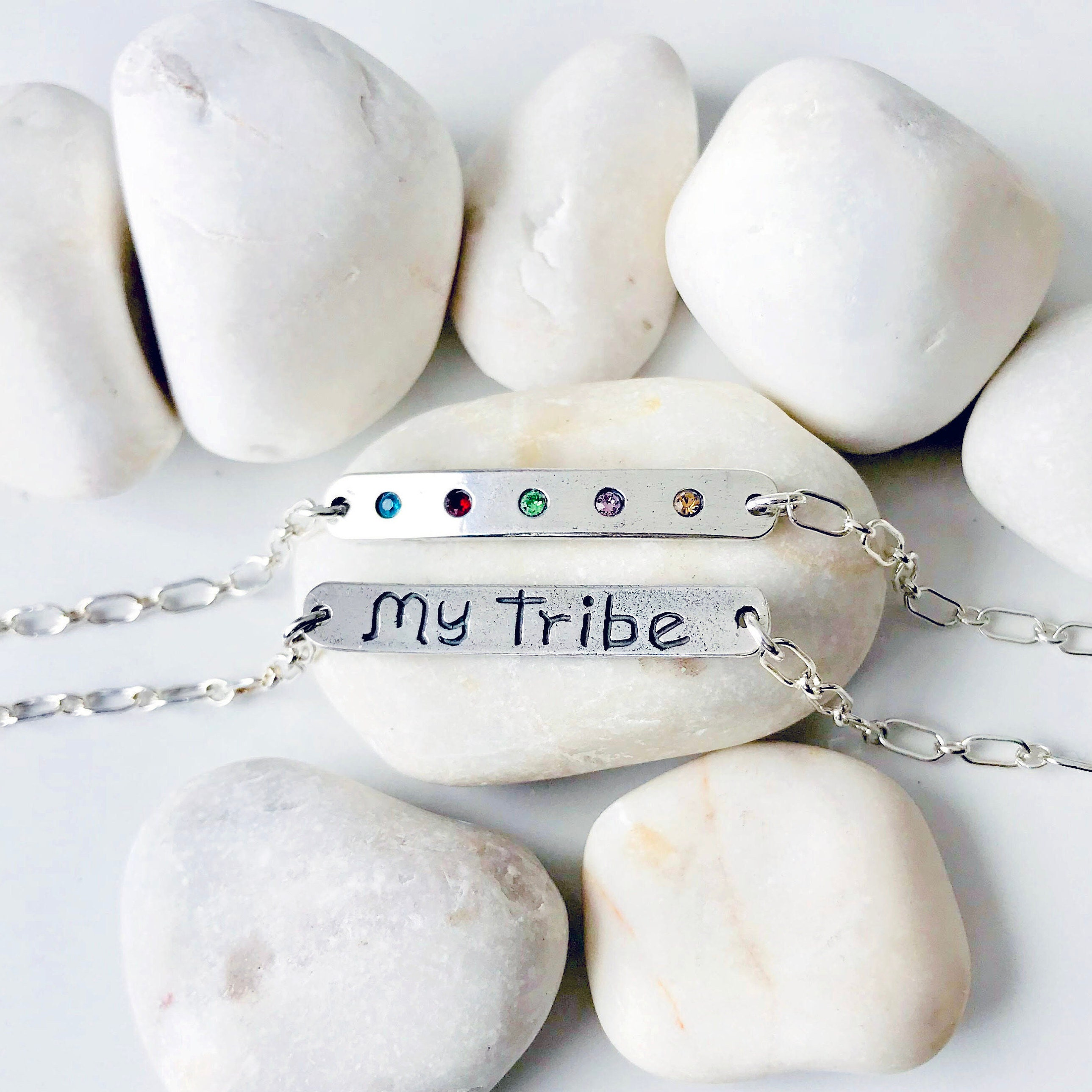 My Tribe Family Bracelet With Birthstones Sterling Silver Mothers