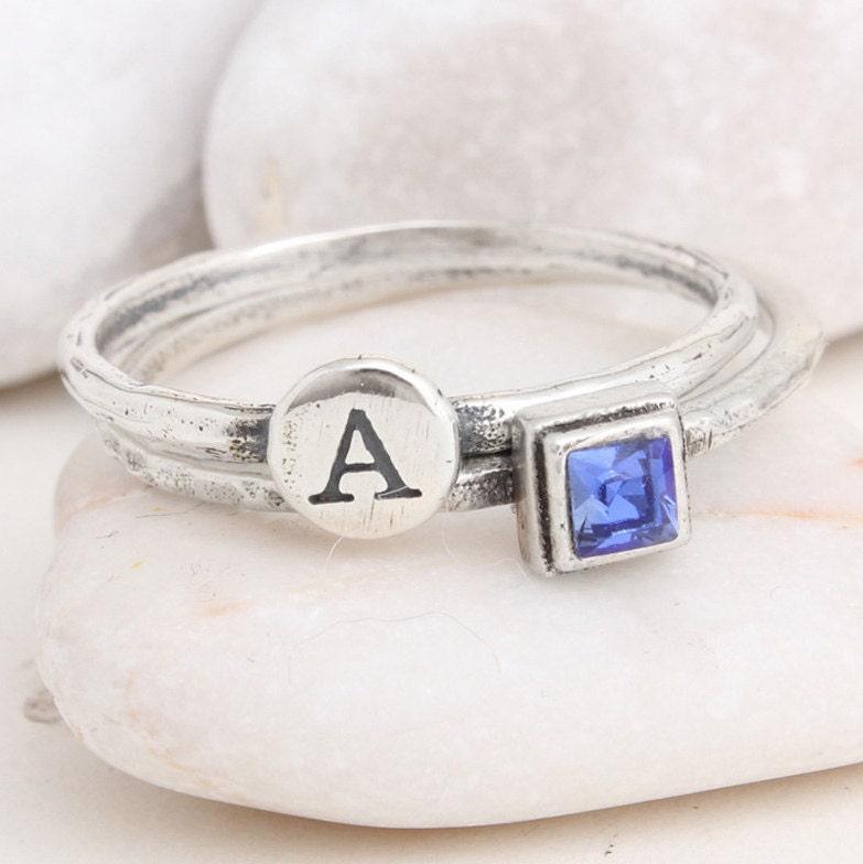 Stack Rings \u2022  Silver Stackable Birthstone Rings \u2022 Marquise Bands \u2022 Mothers Rings \u2022 Ring for Mom \u2022 Gemstone Rings \u2022 Unique Rings \u2022 CHELSEA