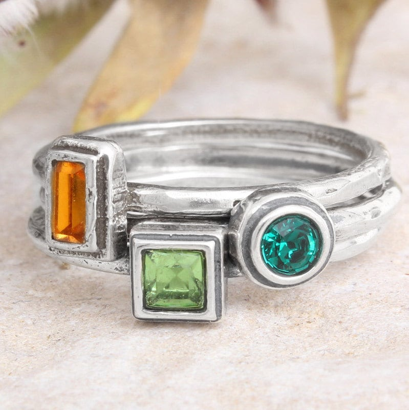 Design Your Own Ring: Create Your Own Personalized Stacking Family Birthstone
