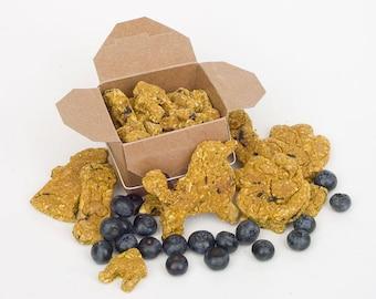TRUEblueTREATS  • Grain Free Blueberry Mini-Bites for Dogs • All Natural • Vegan (4oz)