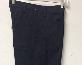 74e6598ddd1 Vintage levi's Sta-Prest Navy jeans slacks never needs ironing big-E LEVI'S  classic cotton twill 32
