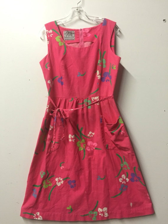 Malia Honolulu hawaiian vintage sundress in pink w