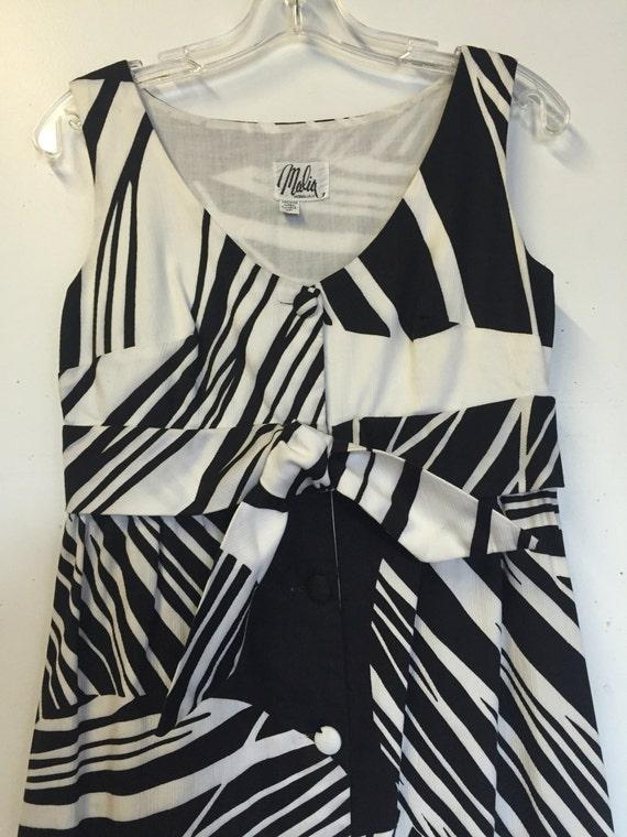 Amazing abstract Black & White Vintage Malia Honol