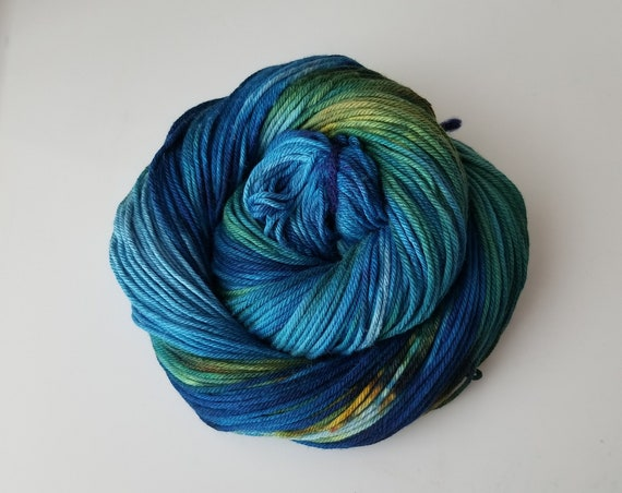 Earth- 100% Organic Cotton, Hand Dyed, Worsted Weight, Hand Painted Yarn