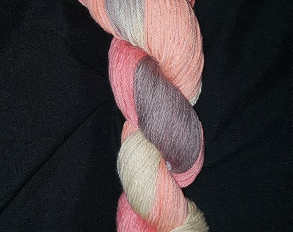 """Bearded Lady-""""Coney Island Collection"""" 100 Organic Cotton, Hand Painted, Variegated Yarn"""