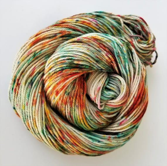 Aisling- 100% Organic Cotton, Hand Dyed, Bulky Weight, Speckled Yarn