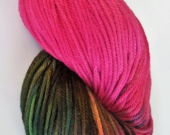 Shotgun Wedding- 100% Organic Cotton, Hand Dyed, Sport Weight, Variegated, Hand Painted Yarn