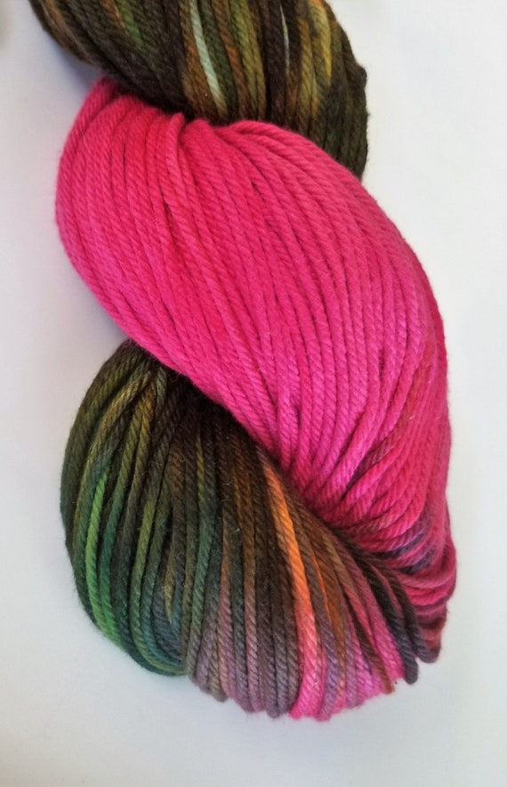 Shotgun Wedding- 100% Organic Cotton, Hand Dyed, Sport Weight, Variegated, Hand Painted Yarn