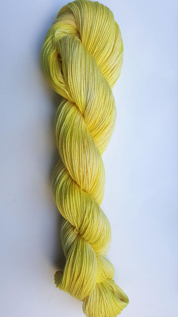 Sunshine- 100 Organic Cotton, Hand Dyed, Solid Color, Hand Painted