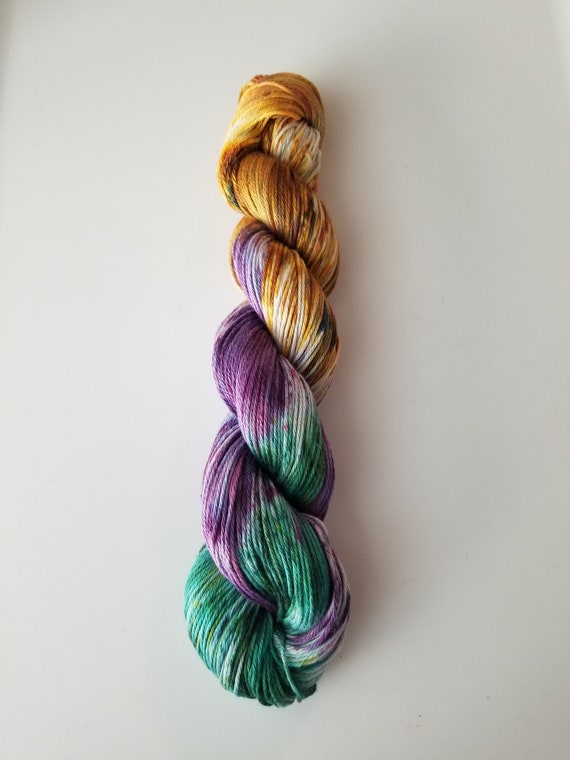 Amulet- 100% Organic Cotton, Hand Dyed, Sport Weight, Variegated, Speckled Yarn