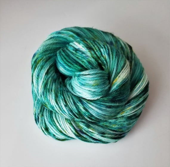 Melon-choly- 100% Organic Cotton, Hand Dyed, Worsted Weight, Variegated, Speckled Yarn
