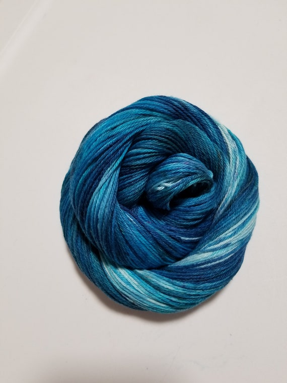 Dream Walker- 100% Organic Cotton, Hand Dyed, Worsted Weight, Variegated, Hand Painted Yarn