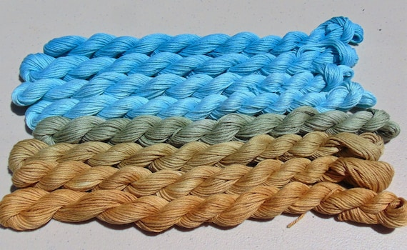 Ibiza- 100 Organic Cotton, Hand Dyed Fingering Weight Ombre Yarn
