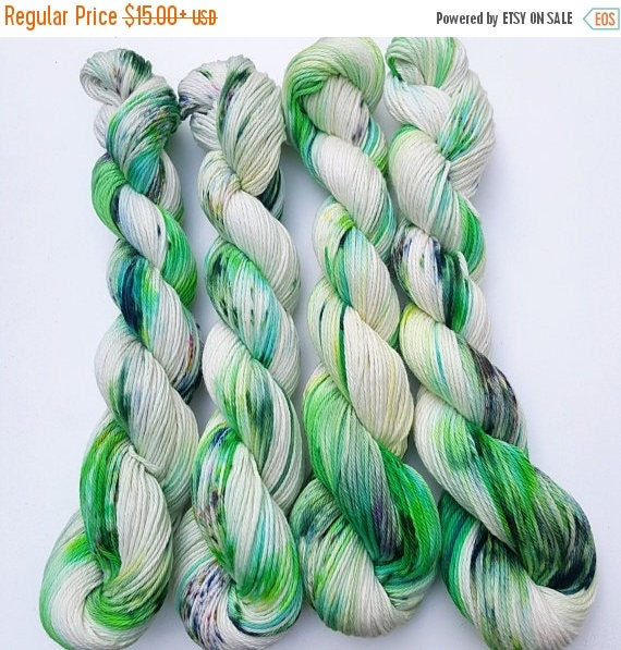 Celtic- 100 Cotton, Hand Dyed, Speckled, Variegated Yarn