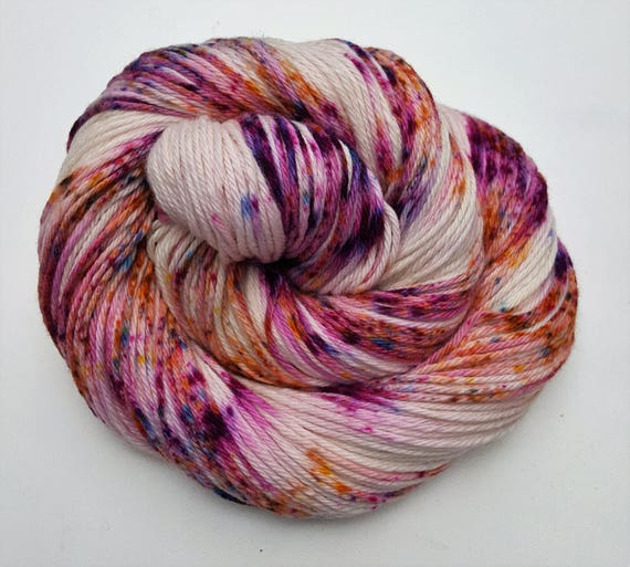 Mistakes & Margaritas- 100 Cotton, Hand Dyed, Variegated, Speckled, Hand Painted Yarn