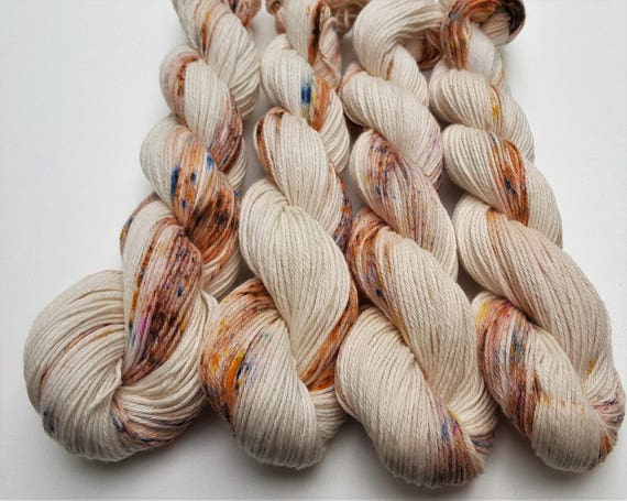 Zen- 100 Cotton Yarn, Hand Dyed, Speckled, Variegated, Hand Painted Yarn