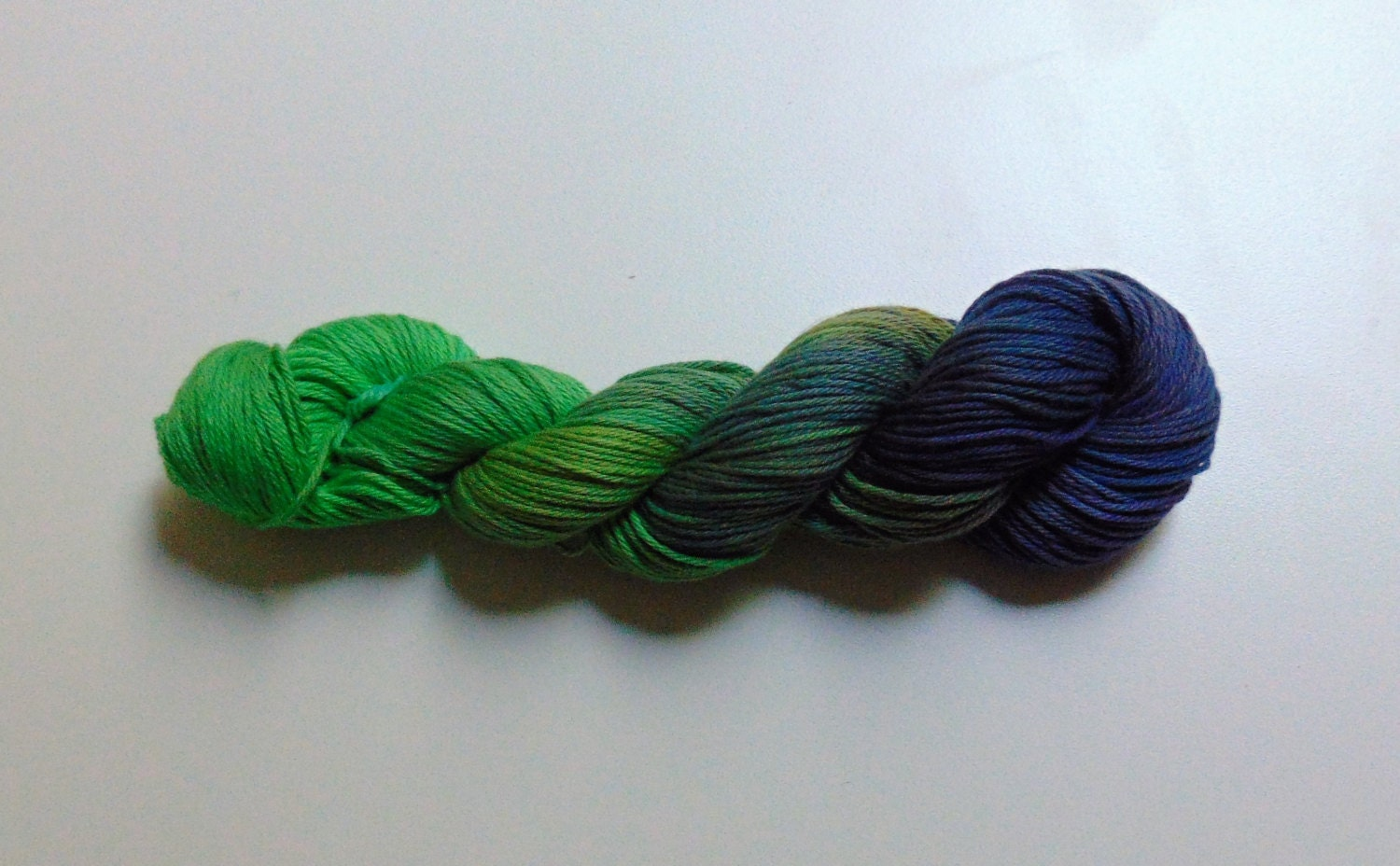 Peacock 100 Cotton Yarn Hand Dyed Worsted Weight