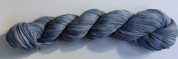 Frost- 100 Organic Cotton, Hand Dyed, Sport Weight, Tonal Colorway