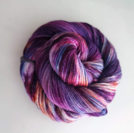 Soul Mate- 100% Organic Cotton, Hand Dyed, Fingering Weight, Ombre, Variegated, Hand Painted Yarn