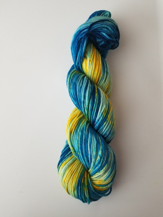Rio- 100% Organic Cotton, Hand Dyed, Bulky Weight, Variegated, Speckled Yarn