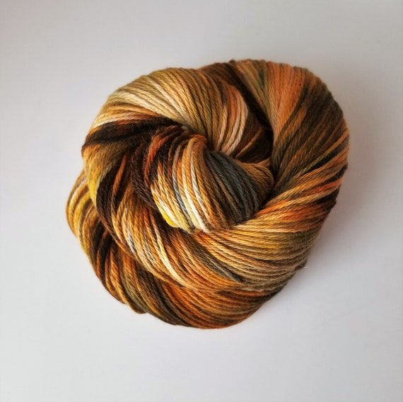 On the Rocks- 100% Organic Cotton, Hand Dyed, Fingering weight, Variegated, Speckled Yarn