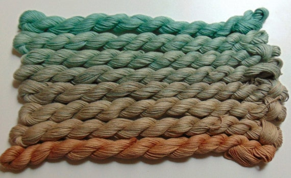 Bog Of Eternal Stench- 100 Cotton Yarn, Hand Dyed, Fingering Weight Ombre
