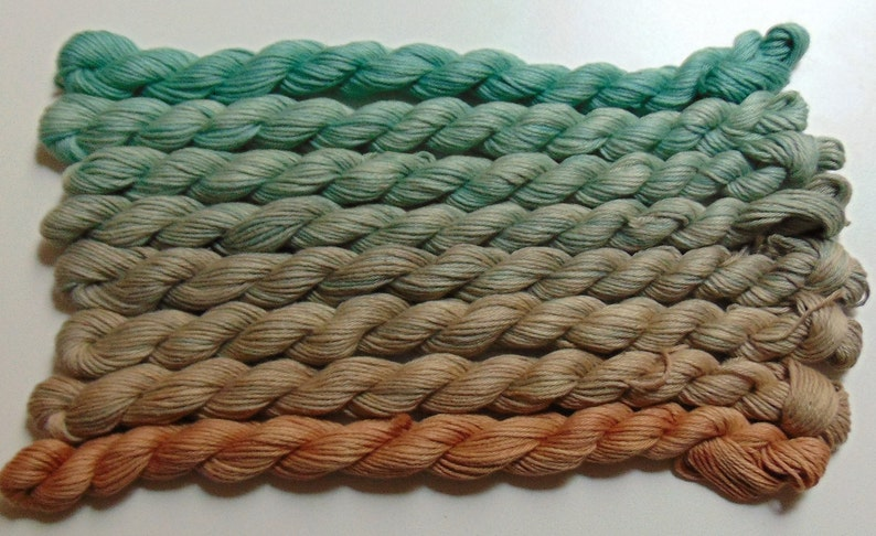 Hand Dyed Bog Of Eternal Stench Fingering Weight Ombre 100 Cotton Yarn