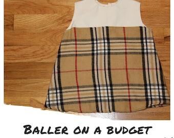 668a4dccdea Baller on a Budget Baby Girl Burberry Dress 12-18 mo.