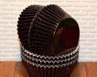 Baking Cupcake Liners 50 Count Black Gingham