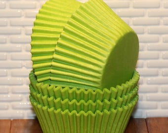 Lime Green Cupcake Liners  (Qty 45) Lime Green Baking Cups, Lime Green Muffin Cups, Cupcake Liners, Baking Cups, Muffin Cups,